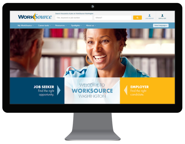 Image of WorkSource WA Website