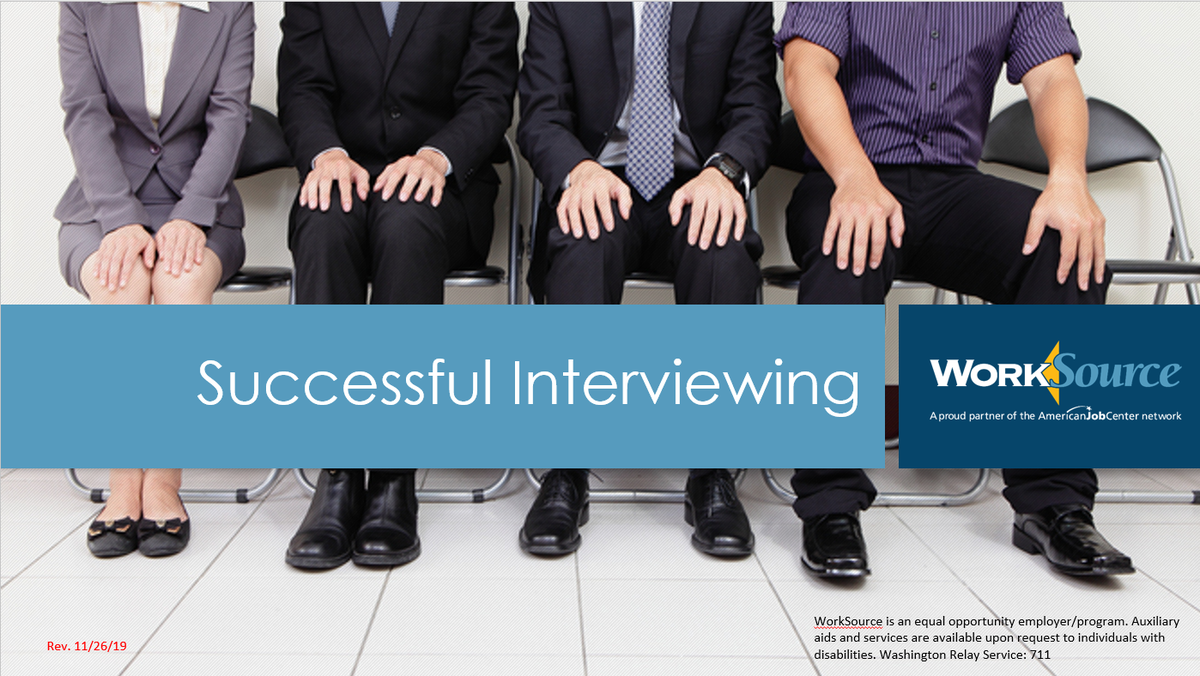 Successful Interviewing Virtual Workshop